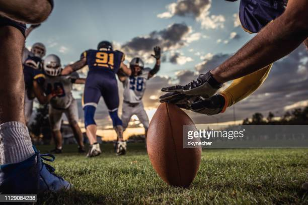ready, set, kick off! - punt kick stock pictures, royalty-free photos & images
