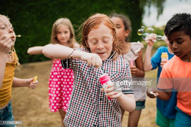 ready to blow bubbles - children only stock pictures, royalty-free photos & images