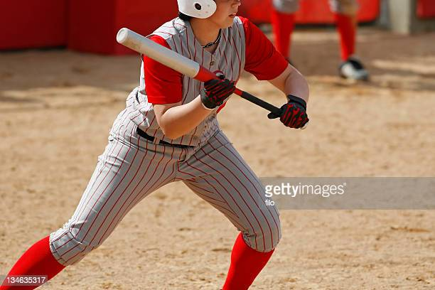 ready to bunt - softball stock pictures, royalty-free photos & images