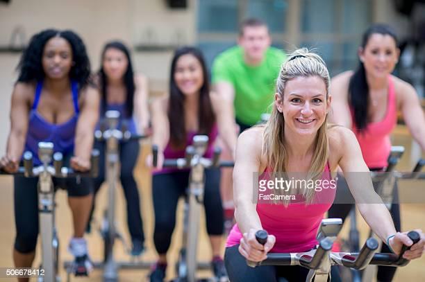 Bereit zum Radfahren zusammen