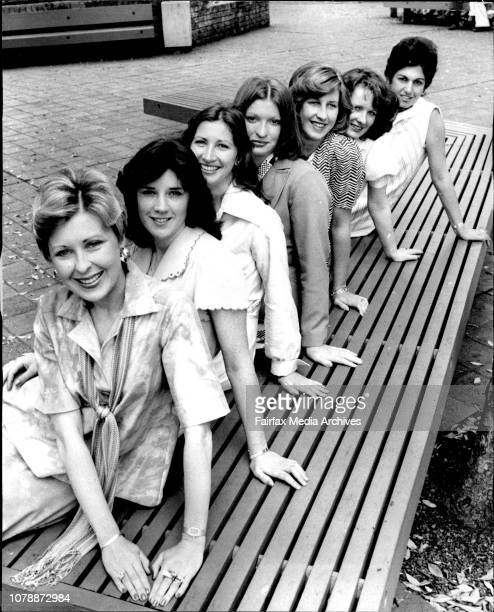Ready To Face The Judges 7 of the 9 finalists from NSW entrants in the 1976 Queen of Hearts Quest run by the National Heart Foundation line up to...