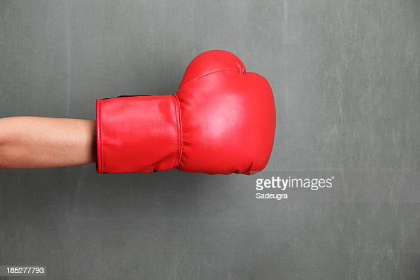 ready to fight - boxing gloves stock photos and pictures