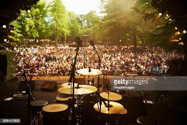 ready to go on stage - music festival stock pictures, royalty-free photos & images