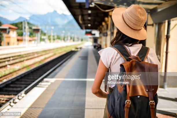 ready to leave. - railway station stock pictures, royalty-free photos & images