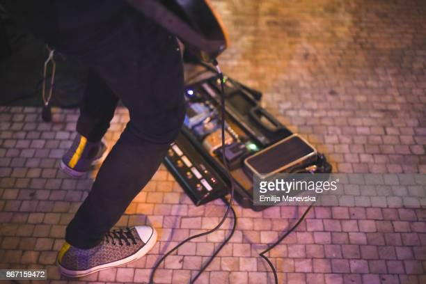 ready to perform. cropped shot of a musician's feet on stage - lead singer stock pictures, royalty-free photos & images