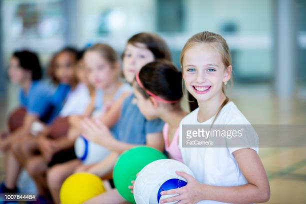 ready to play games - physical education stock photos and pictures
