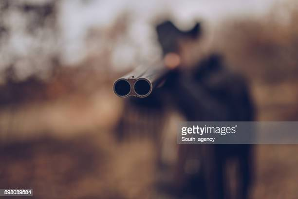 ready to shot - shotgun stock pictures, royalty-free photos & images