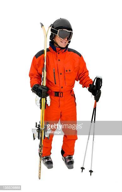 ready to ski - ski wear stock pictures, royalty-free photos & images
