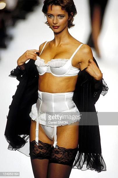 Ready to Wear fashion show : Fall Winter 94 -95 in Paris, France in March, 1994 - Chantal thomass, Heather Stewart Whyte.