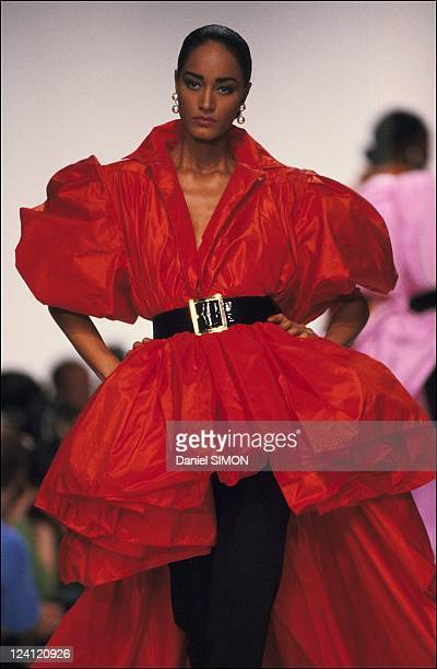 Ready to wear spring summer 1990 fashion show in Paris France on October 19 1989 Christian Dior collection