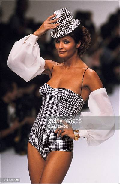 Ready to Wear Spring Summer 1995 in Paris France in October 1994 Fashion show Christian Dior Helena Christensen