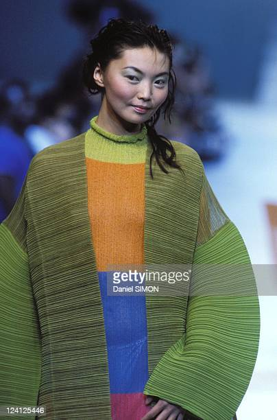 Ready to Wear Spring -Summer 1995 in Paris, France in October, 1994 - Issey Miyake.