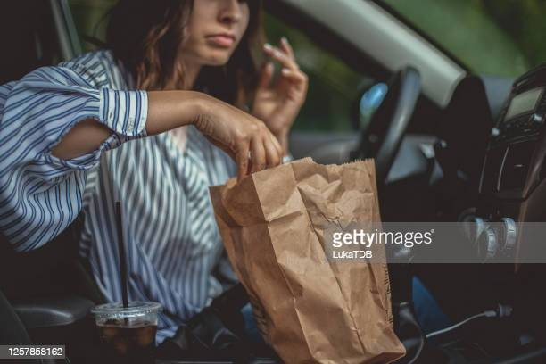 ready-to-eat! - drive through stock pictures, royalty-free photos & images