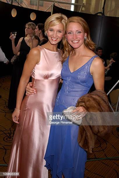 Reagan Pasternak and Michelle Nolden during 2003 18th Annual Gemini Awards Pre Party at Metro Toronto Convention Centre in Toronto Ontario Canada