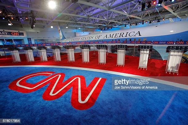 Reagan Presidential Library Simi Valley LA CA September 16 Cnn Presidential Debate Features Air Force One Background Before Debate Starts