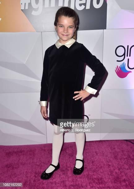 Reagan Revord attends the #girlhero Award Luncheon at SLS Hotel on October 14 2018 in Beverly Hills California