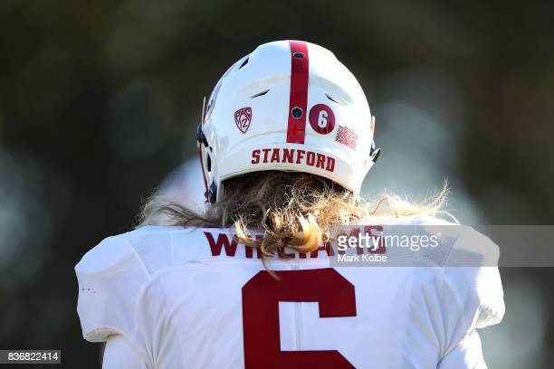 Reagan Williams is seen during a Stanford University training session at Moore Park on August 22 2017 in Sydney Australia