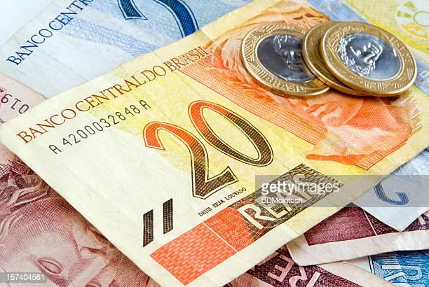 dinheiro real do brasil - nota - fotografias e filmes do acervo