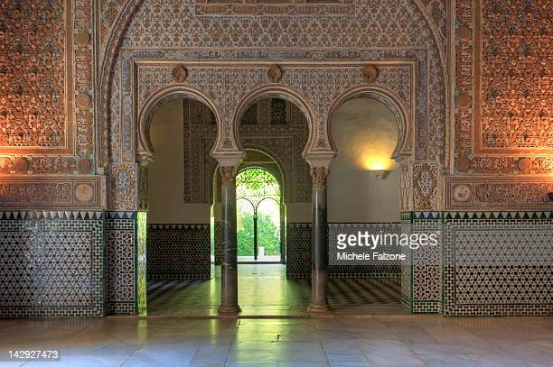 real alcazar palace, sevilla - palace stock pictures, royalty-free photos & images