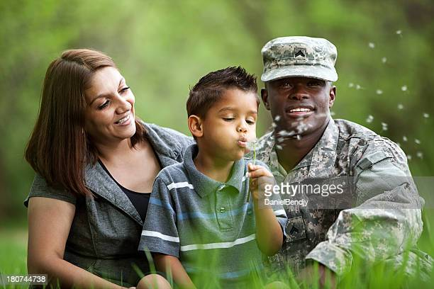 Real américaine famille de militaires