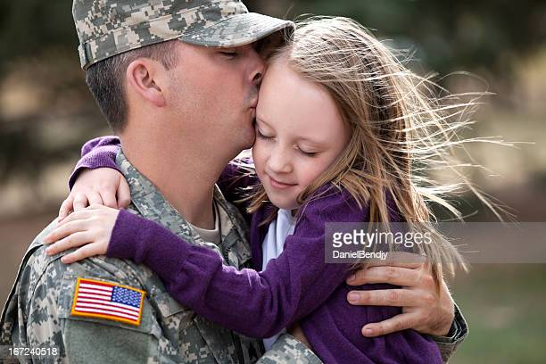 Real American Soldier & Daughter Outdoor