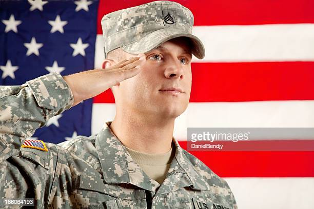 real american soldier - saluting stock pictures, royalty-free photos & images