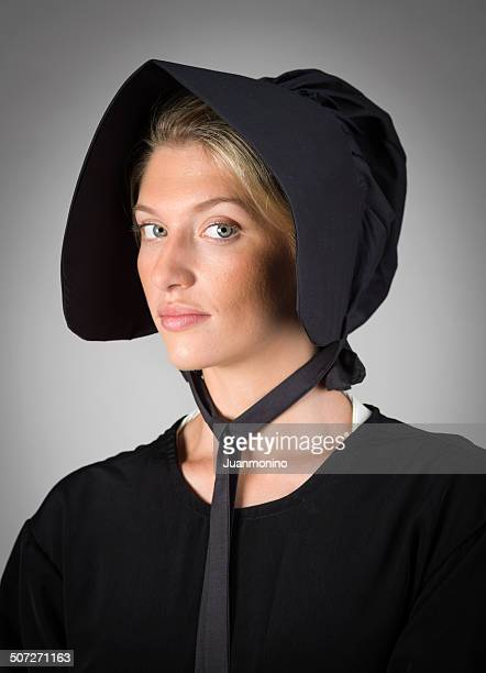 real amish mennonite young woman - amish woman stock pictures, royalty-free photos & images