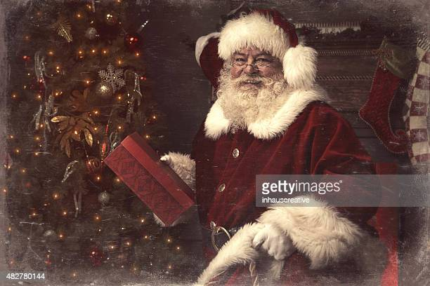 Real authentic Christmas photo of Santa Claus
