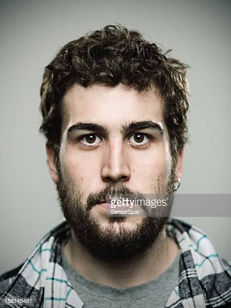 real bearded man - sideburn stock pictures, royalty-free photos & images