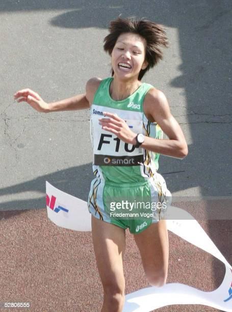 Real Berlin Marathon 2003 Berlin Yasuko HASHIMOTO/JPN Siegerin der Frauen