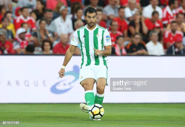 Real Betis defender Jordi Amat in action during the Algarve Cup match between SL Benfica and Real Betis at Estadio Algarve on July 20 2017 in Faro...