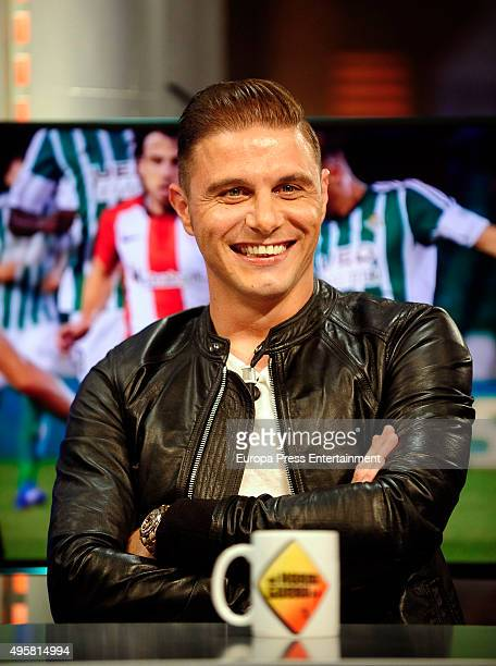 Real Betis football player Joaquin attends 'El Hormiguero' Tv Show on November 4 2015 in Madrid Spain