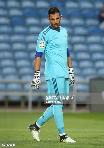Real Betis goalkeeper Antonio Adan in action during the Algarve Cup match between SL Benfica and Real Betis at Estadio Algarve on July 20 2017 in...