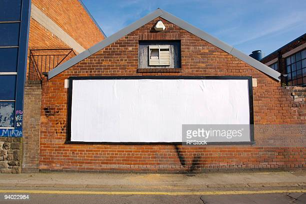 real blank billboard - street stockfoto's en -beelden