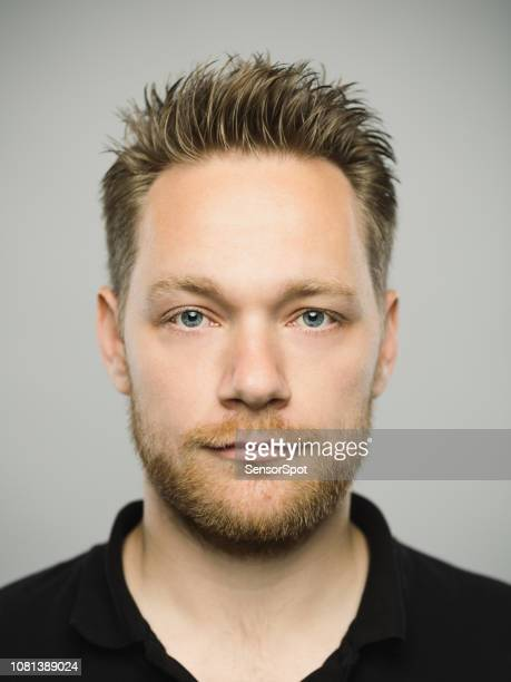 real caucasian man with blank expression - scandinavian descent stock pictures, royalty-free photos & images