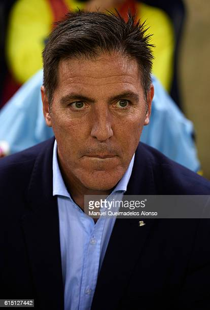 Real Club Celta de Vigo manager Eduardo Berizzo looks on prior to the La Liga match between Villarreal CF and Celta de Vigo at El Madrigal on October...