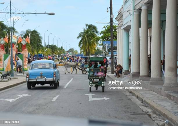 Real daily city life in downtown Cienfuegos, Cuba