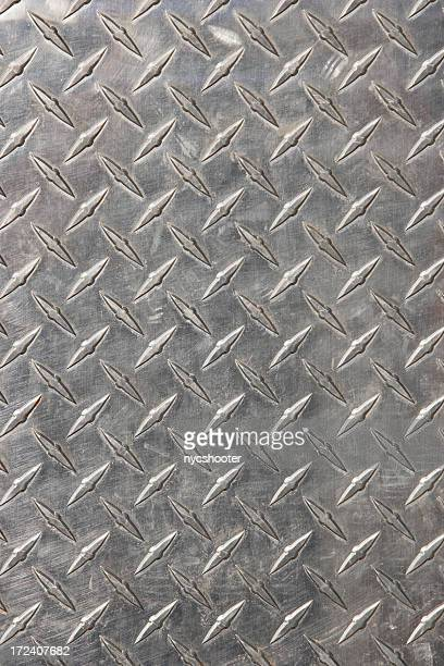 Real diamond plate steel background (XXL)