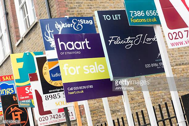 Real Estate Agency FOR SALE and TO LET sign boards