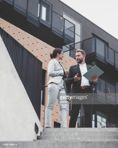 Real estate agent and businesswoman customer