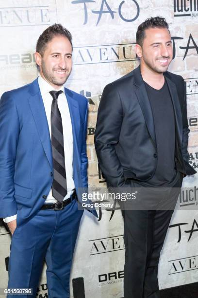 Real estate agents Josh Matt Altman attends the TAO Beauty And Essex Avenue And Luchini LA Grand Opening on March 16 2017 in Los Angeles California