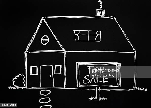 Real Estate Chalk Drawing