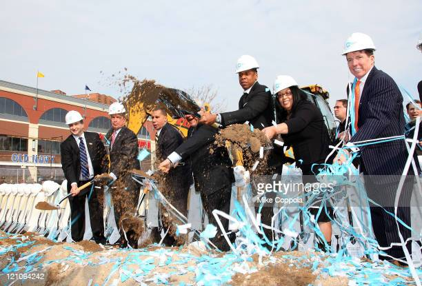 Real estate developer Bruce Ratner New York City Mayor Michael Bloomberg New York State Governor David Paterson Brooklyn Borough President Marty...