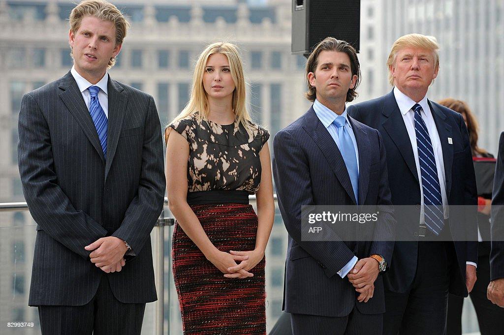 Real estate developer Donald Trump (R) a : News Photo