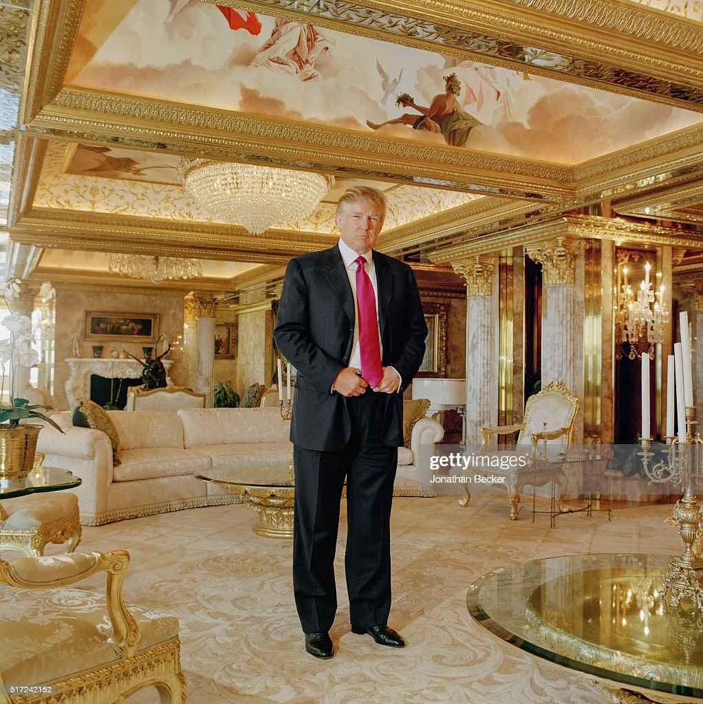 Real Estate Developer Donald Trump Is Photographed For Forbes Magazine On August 25 2005 In
