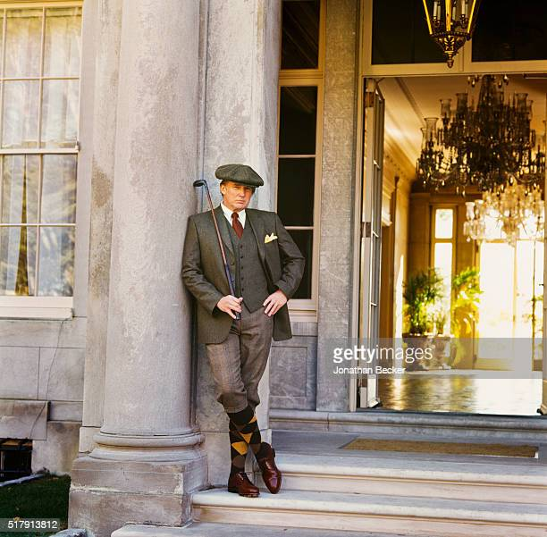 Real estate developer Donald Trump is photographed for Vanity Fair Magazine on October 31 1998 at Seven Springs in Bedford New York PUBLISHED IMAGE