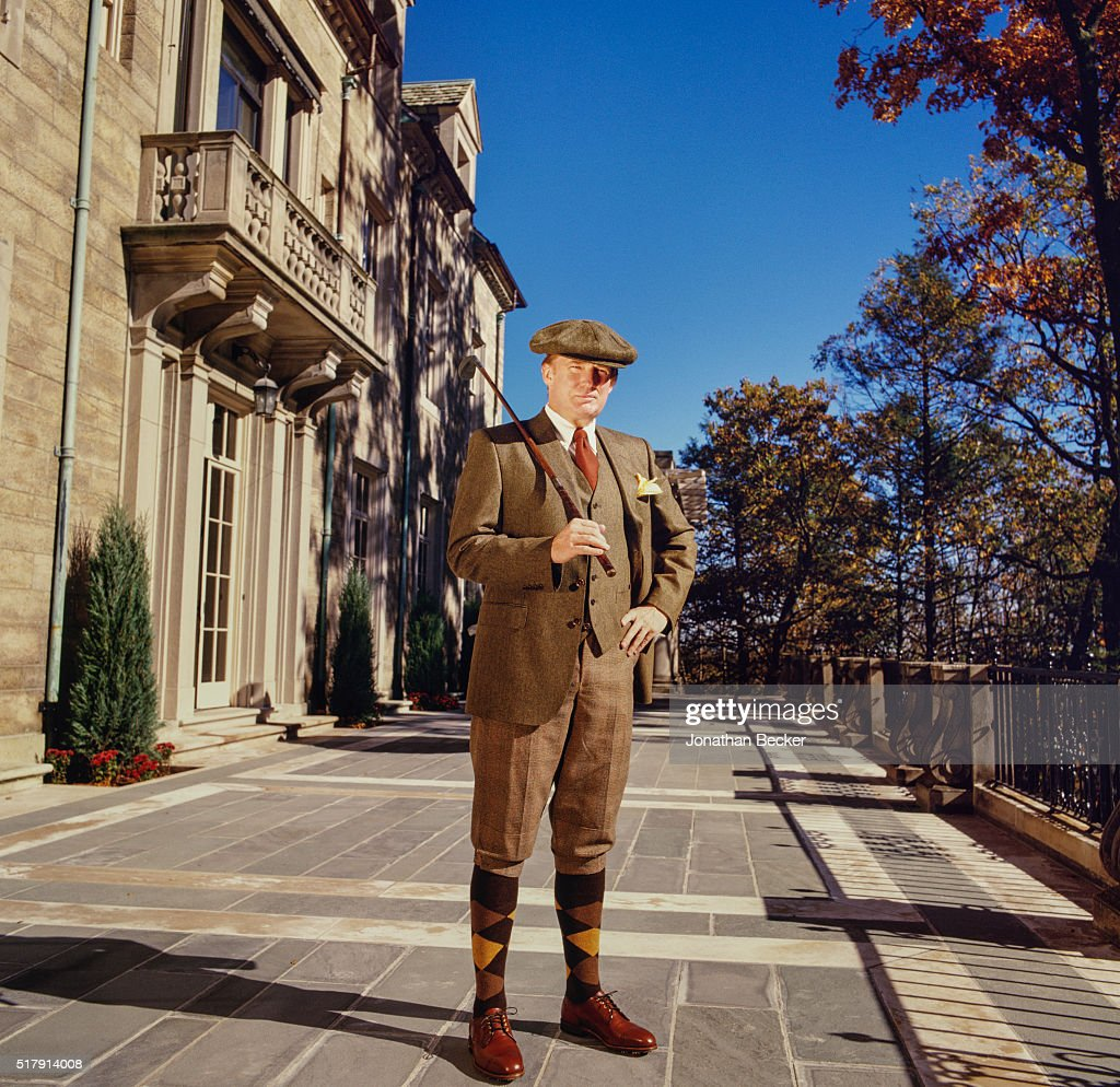 Real estate developer Donald Trump is photographed for Vanity Fair Magazine on October 31, 1998 at Seven Springs in Bedford, New York. PUBLISHED