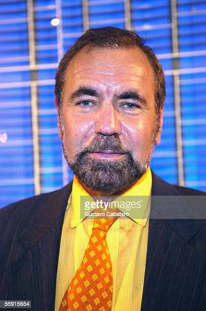 Real Estate Developer Jorge Perez poses at the party for the new Icon building October 11 2005 in Miami Florida