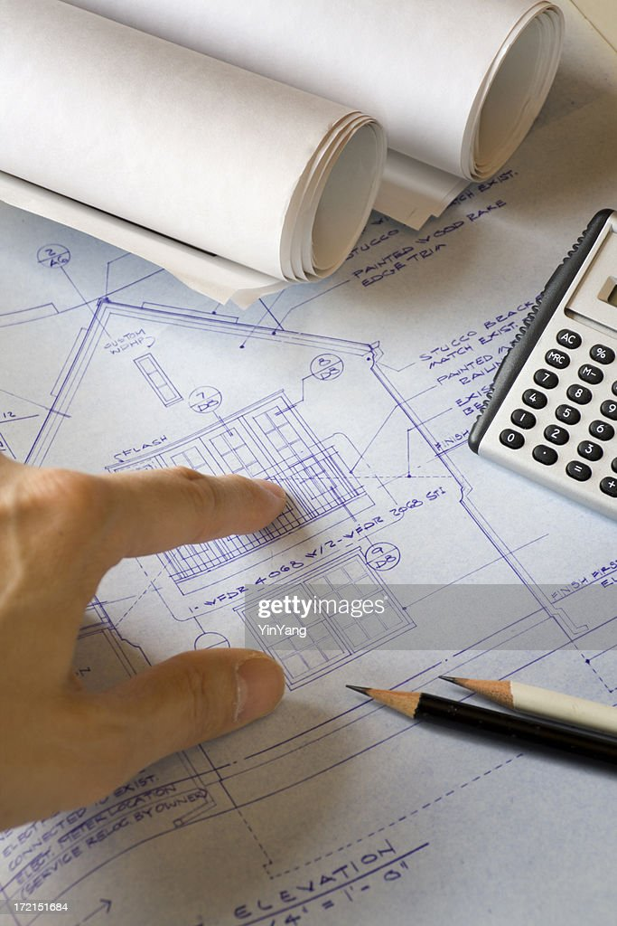 Real estate developers builders with new construction home real estate developers builders with new construction home improvement blueprint stock photo malvernweather Image collections