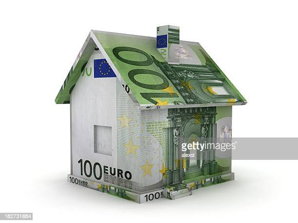 real estate - euro - euro symbol stock photos and pictures